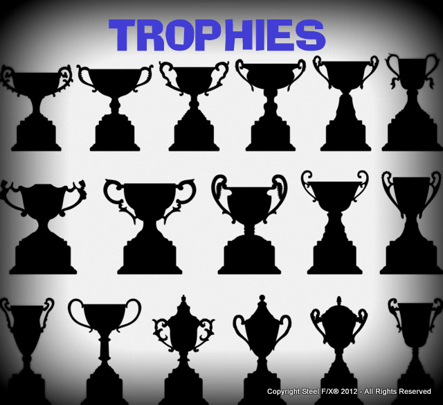 trophy award patterns dxf for steel cut-outs plasma cutting