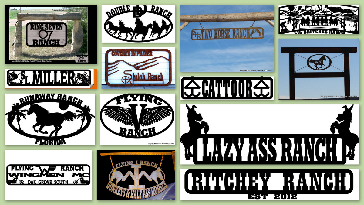 custom steel ranch and entry signs