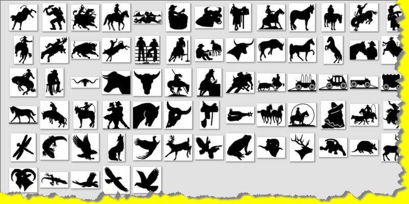 animal creature western wildlife southwest native american silhouette patterns