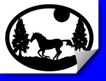 horse scene dxf for plasma-cutting