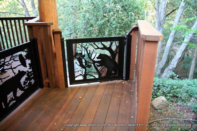 Log home railing inserts