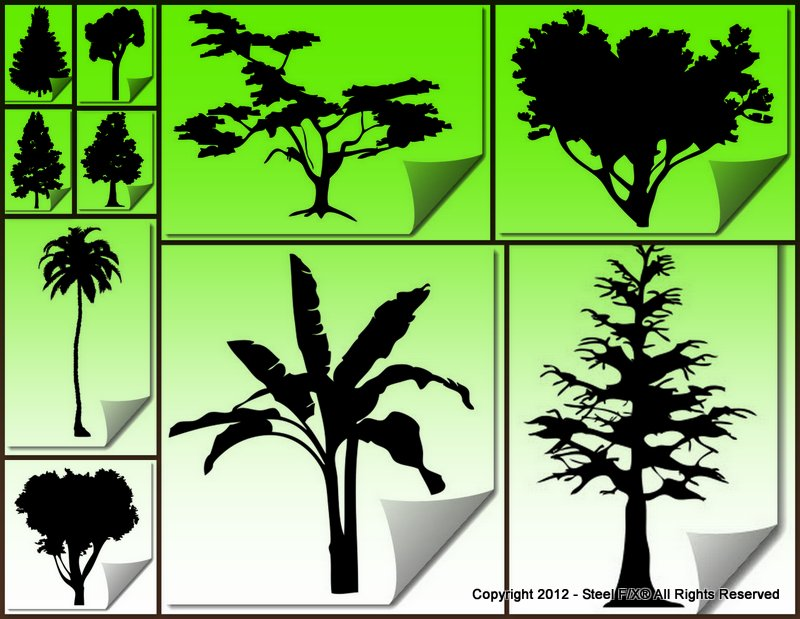 dxf cut files for plasma-cutting palms oak